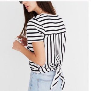 Madewell striped tie back top